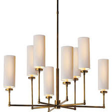 Brushed Brass Chandelier 30 To 40 Inches Width Chandeliers Homeclick