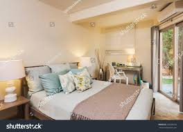 bedroom contemporary home interior design stock photo 220232272