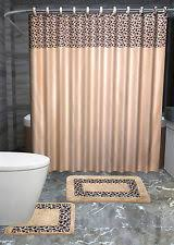 Bathroom Sets With Shower Curtain And Rugs And Accessories Leopard Bathroom Set Ebay