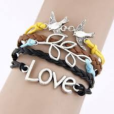cross bracelet jewelry images Charm vintage multilayer charm leather bracelet women owl cross jpeg