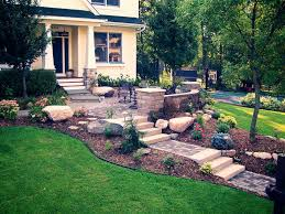 Slope For Paver Patio by Garden Design With Making Different Look Your Also Front Yard