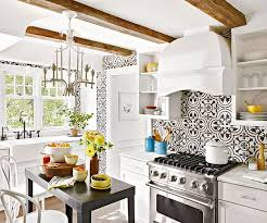 moroccan tile kitchen backsplash quatrefoil tile eclectic kitchen bhg