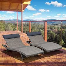 Lounge Patio Chairs Gray Outdoor Chaise Lounges Patio Chairs The Home Depot