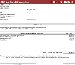 Electrical Estimate Template by 4 Estimate Templates To Calculate The Estimates For Your Business