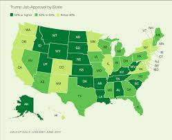 Usa Map By State by Trump Has Averaged 50 Or Higher Job Approval In 17 States