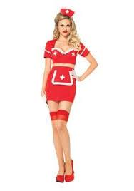 Halloween Nurse Costume White Red 3 Pc Aid Flirt Nurse Costume Halloween