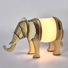 decor papercraft elephant lamp for cool home lighting ideas