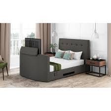 Tv Bed Frames Montero Upholstered Tv Bed Frame With 32 Led Tv Pinkweek