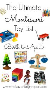 the ultimate montessori toy list birth to five updated 2017