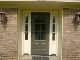 glass insert for front door dark grey front door color for brick house decorated with glass