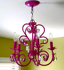 Little Girls Chandeliers I Love The Idea Of Painting A Chandelier Brightly To Add A Shot Of