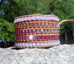 swarovski crystal leather bracelet images Pink swarovski crystal leather wrap onsra designer bracelets jpg