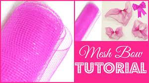 how to make a deco mesh bow creative diy tutorial diymas