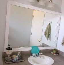 Framing Builder Grade Bathroom Mirror Restoration Beauty 11 Framed Builder Grade Bathroom Mirror