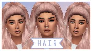the sims 4 hair cc haul cc list youtube