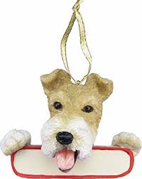 wire fox terrier ornament santa s pals with