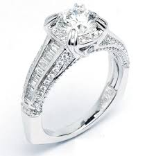 art deco halo diamond engagement ring with euro shank 1 93 cttw