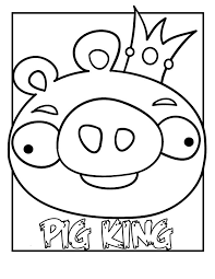 angry birds pig coloring pages pig king cartoon coloring pages