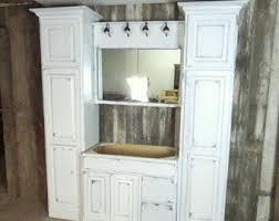 bathroom cabinet etsy