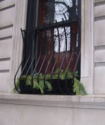 metal window security bars with window boxes exterior fixed