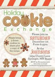 cookie swap invitation cookie exchange by thebutterflypress
