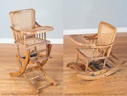 A Rocking Chair Antique Baby High Chair That Also Transforms Into A Rocking Chair