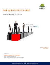 pmp quick study guide by pmaspire issuu