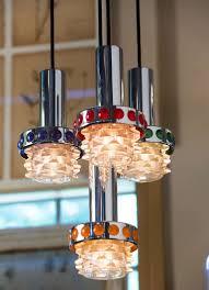 vintage multi colored raak mid century modern pendant light at 1stdibs