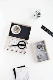 Black And White Desk Accessories Diy Desk Accessories Domino