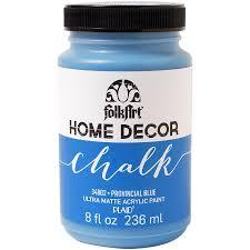 folkart home decor chalk paint 8oz provincial blue