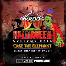 win a 4 pack of kroq halloween costume ball tickets 50 coffee