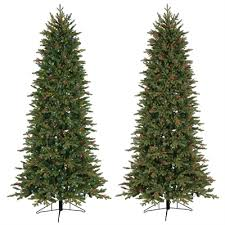 ge 7 5 ft pre lit aspen fir slim artificial tree white