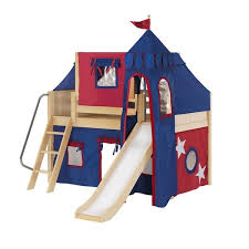 maxtrixkids wow21 np low loft bed with angled ladder tower