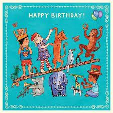 panda birthday card putumayo world music
