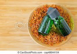 huile de carthame cuisine carthame huile pur bol plante concentré vert séché