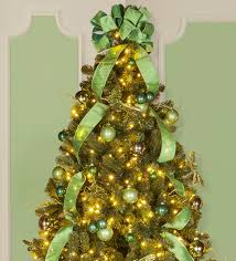 peachy green tree decorations lime and chritsmas decor