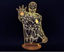 amazon com homecube 3d visualization led lights art sculpture