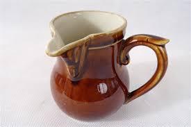 deco cuisine boutique cremier vintage pot a lait dit egoïste en terre vernissée poterie
