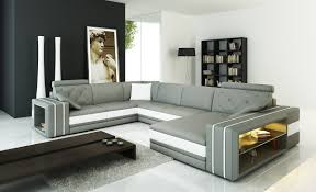 Houzz Modern Sofas by Divani Casa 6142 Modern Grey And White Leather Sectional Sofa