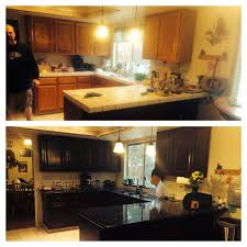 oak cabinets to general finishes brown mahogany love them