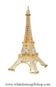 eiffel tower gold plated desk model or ornament from the official