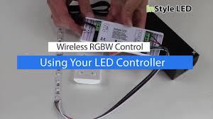 Wireless Led Strip Lights by How To Set Up U0026 Use A Wireless Rgbw Led Strip Light Controller