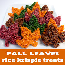 fall leaves rice krispie treats rice krispie treats krispie