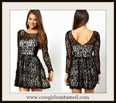cowgirl glam black mesh crochet lace over satin sweetheart