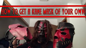 Kane Halloween Costume Kane Mask