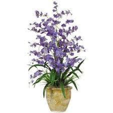 Silk Flower Plants - purples lavenders artificial plants u0026 flowers home accents