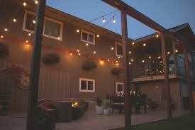 String Lighting For Patio Diy Patio String Lights Miss