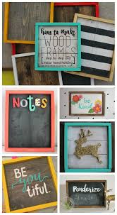 How To Hang A Picture Without Nails How To Make Wood Frames Step By Step A And A Glue Gun