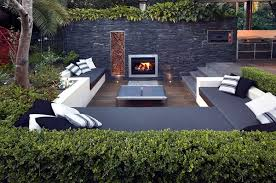 How To Design A Patio Area Setting Up The Patio Area In The Garden With Comfortable Furniture