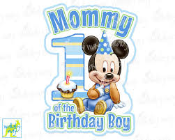 baby mickey 1st birthday mickey 1st birthday printable iron on transfer or use as